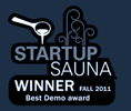 Startup Sauna 2011 fall winner - best demo